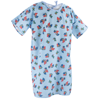 This image shows hospital gowns for kids in happy hound print. These kids hospital gowns are Ideal for pediatric patients.