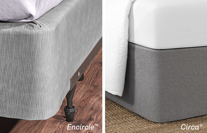 Bedskirt Alternative: Comparison of Encircle Box Spring Cover and Circa Bed Wrap